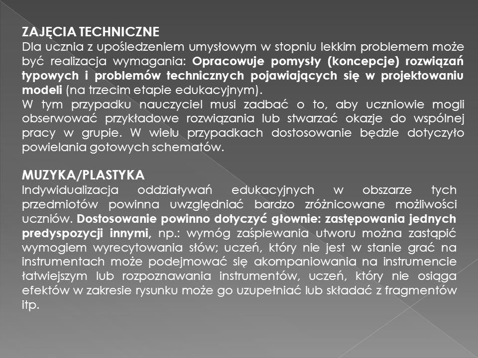 ZAJĘCIA TECHNICZNE MUZYKA/PLASTYKA