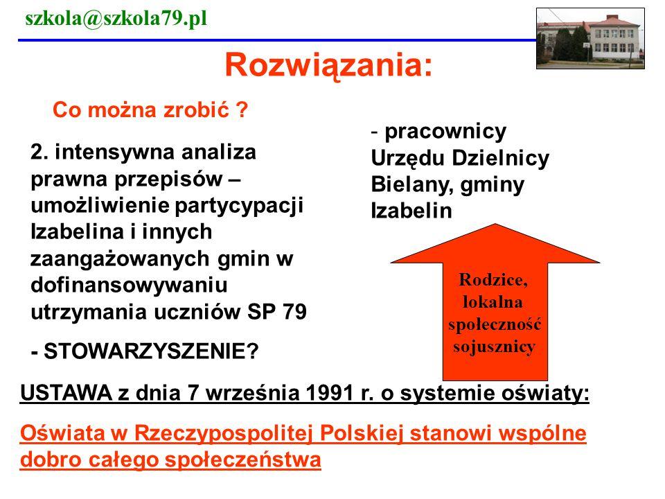 Rozwiązania: szkola@szkola79.pl Co można zrobić