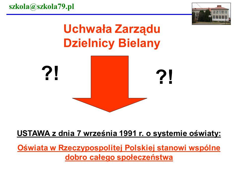 USTAWA z dnia 7 września 1991 r. o systemie oświaty: