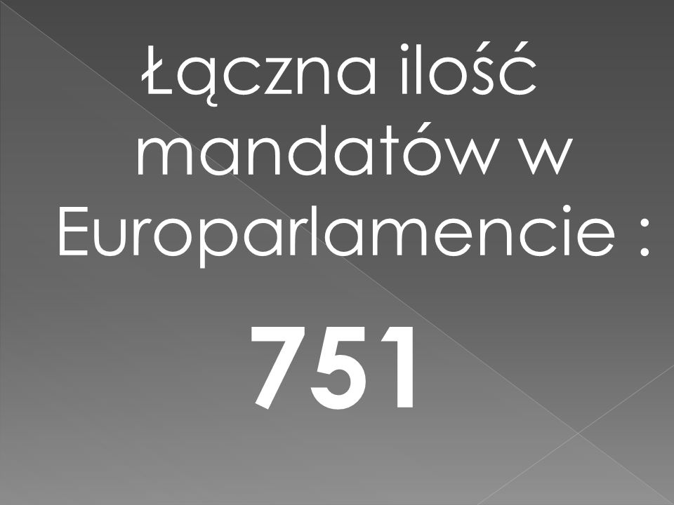 Łączna ilość mandatów w Europarlamencie :