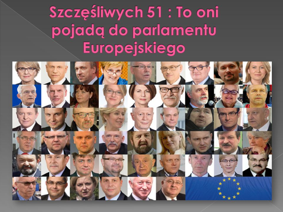 Szczęśliwych 51 : To oni pojadą do parlamentu Europejskiego