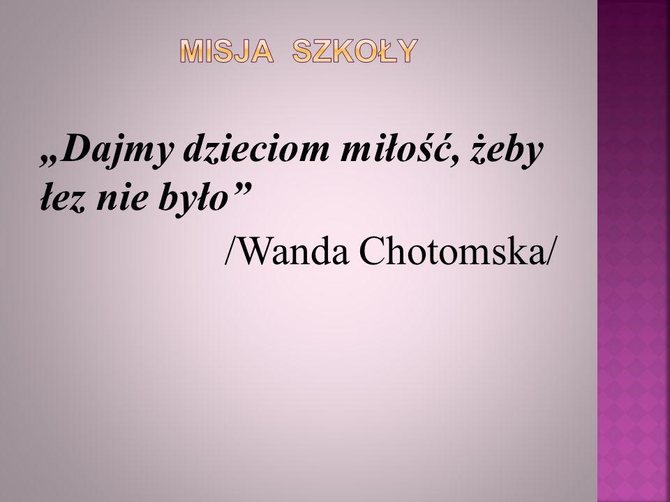 """""""Dajmy dzieciom miłość, żeby łez nie było /Wanda Chotomska/"""