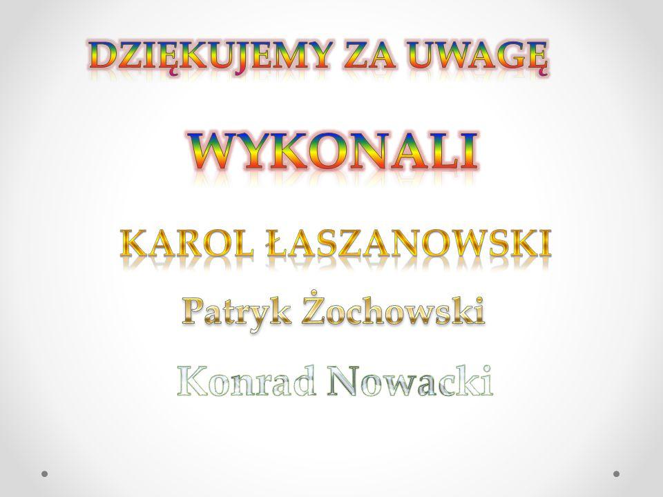 Wykonali Konrad Nowacki Dziękujemy za uwagę Karol Łaszanowski