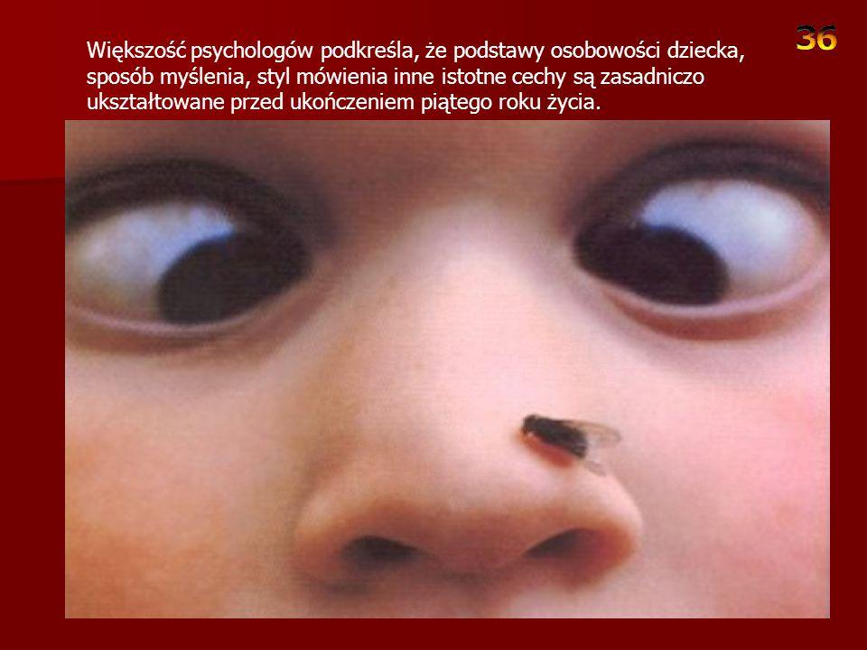 Większość psychologów podkreśla, że podstawy osobowości dziecka, sposób myślenia, styl mówienia inne istotne cechy są zasadniczo ukształtowane przed ukończeniem piątego roku życia.