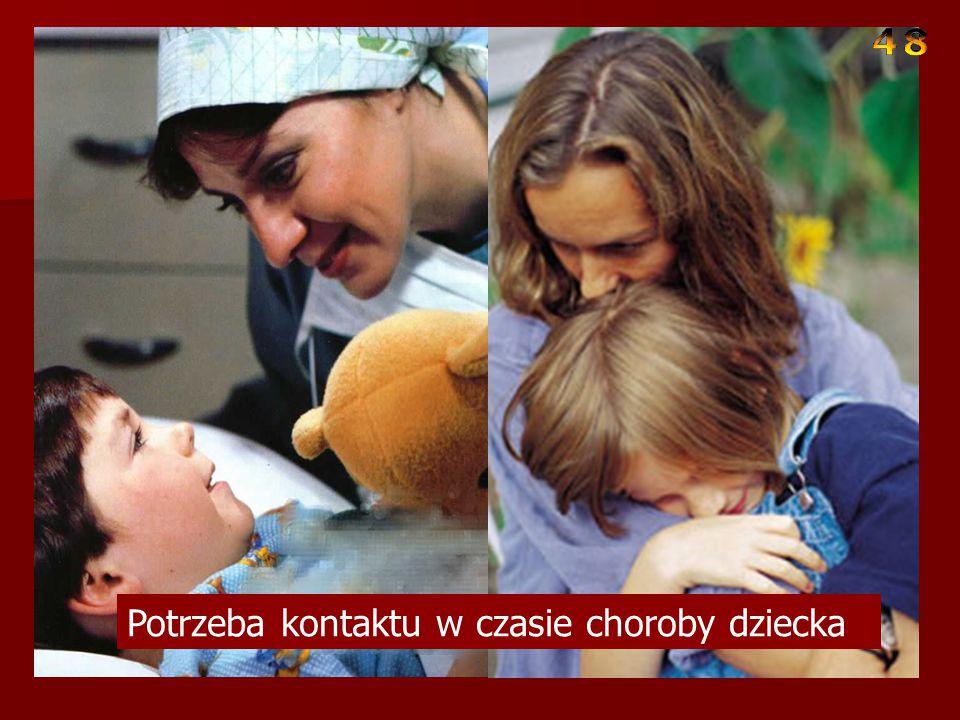 Potrzeba kontaktu w czasie choroby dziecka