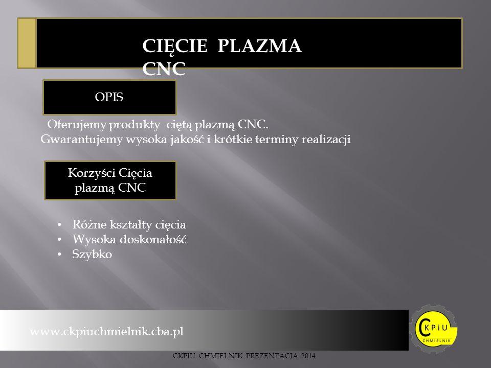 Korzyści Cięcia plazmą CNC