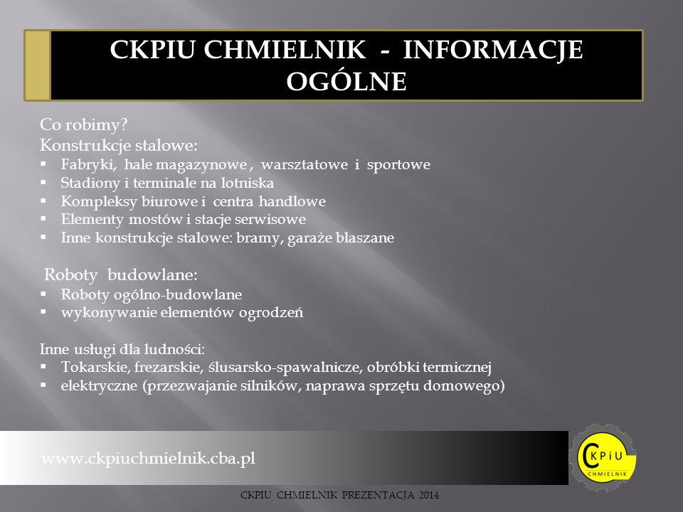 CKPIU CHMIELNIK - INFORMACJE OGÓLNE