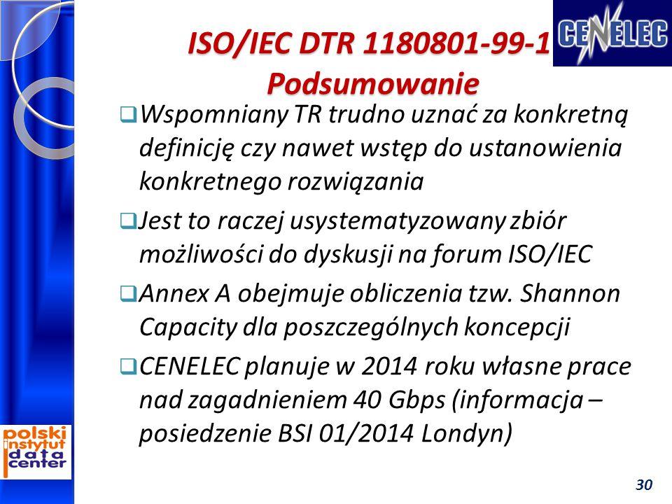 ISO/IEC DTR 1180801-99-1 Podsumowanie