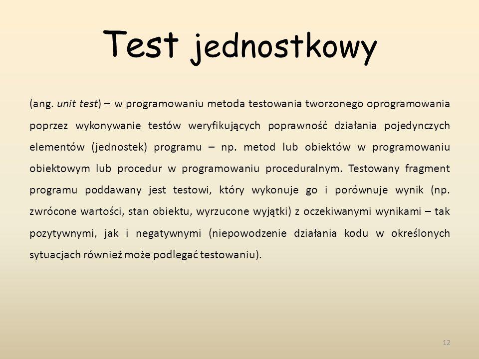 Test jednostkowy