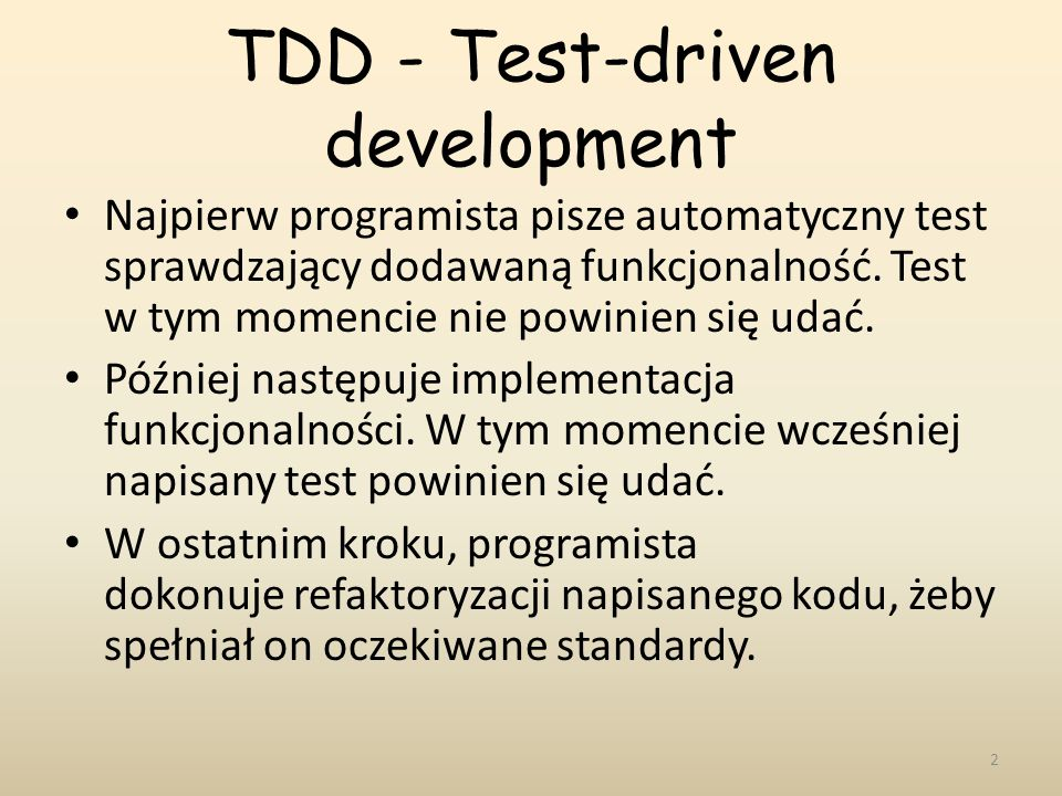 TDD - Test-driven development