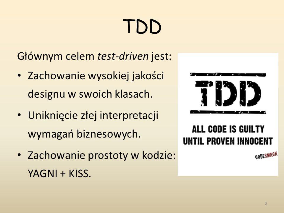 TDD Głównym celem test-driven jest:
