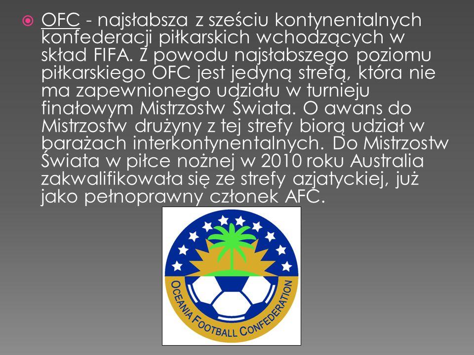 OFC - najsłabsza z sześciu kontynentalnych konfederacji piłkarskich wchodzących w skład FIFA.