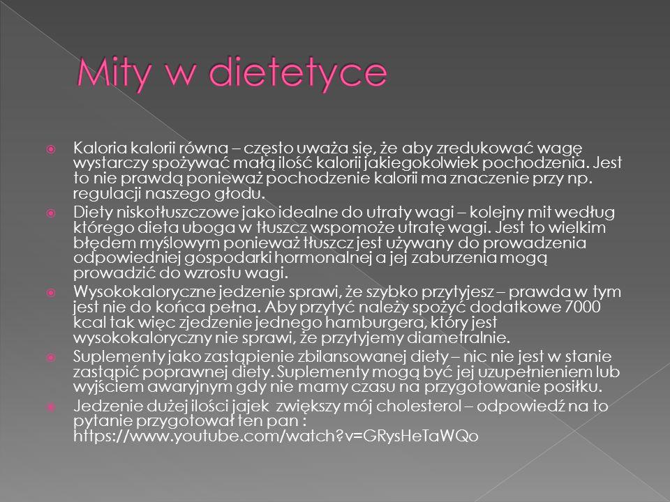 Mity w dietetyce