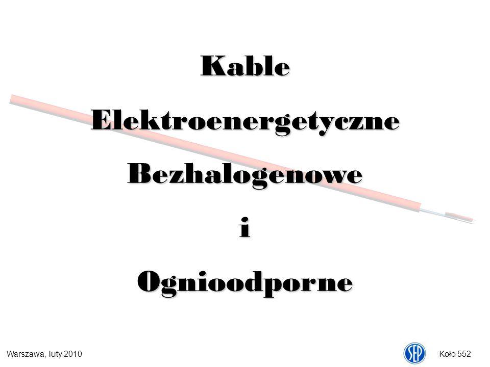Kable Elektroenergetyczne Bezhalogenowe i