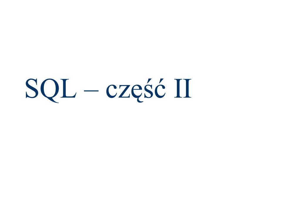 SQL – część II