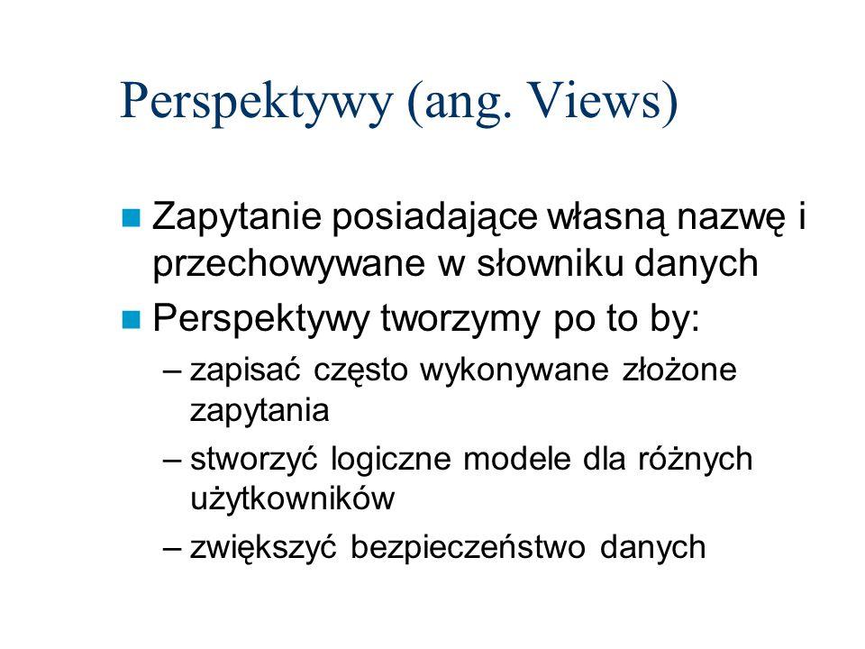 Perspektywy (ang. Views)