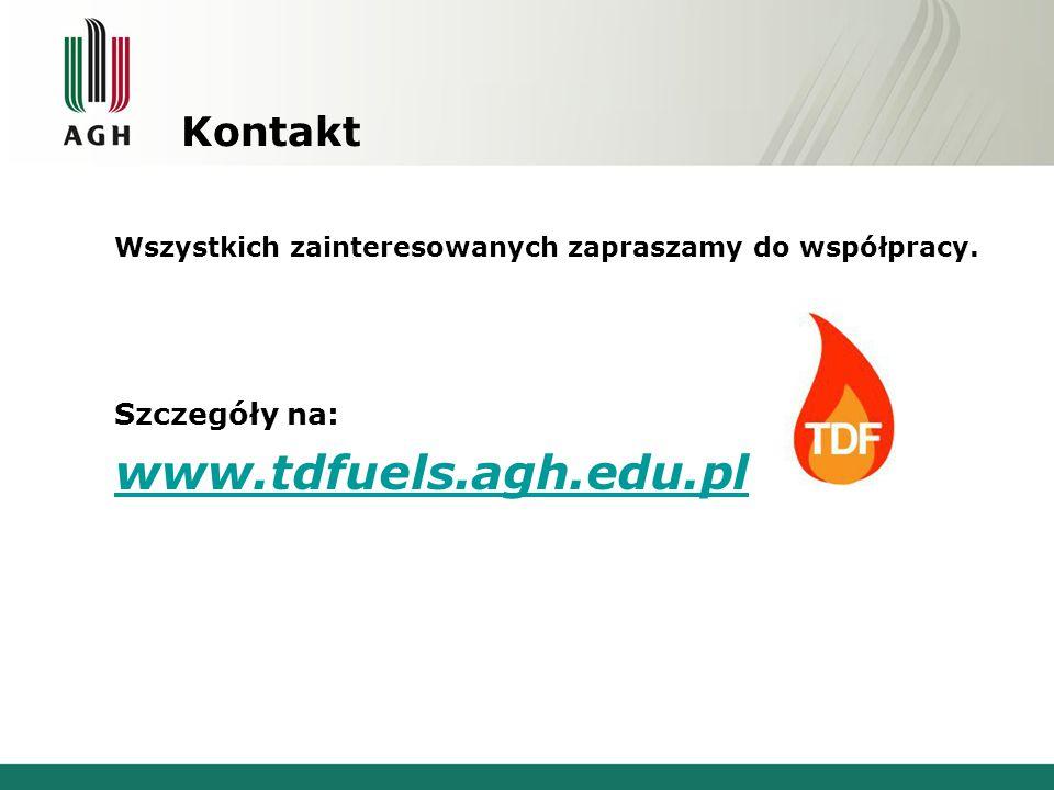 www.tdfuels.agh.edu.pl Kontakt Szczegóły na: