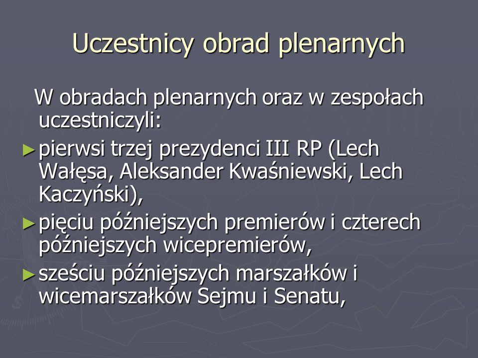 Uczestnicy obrad plenarnych