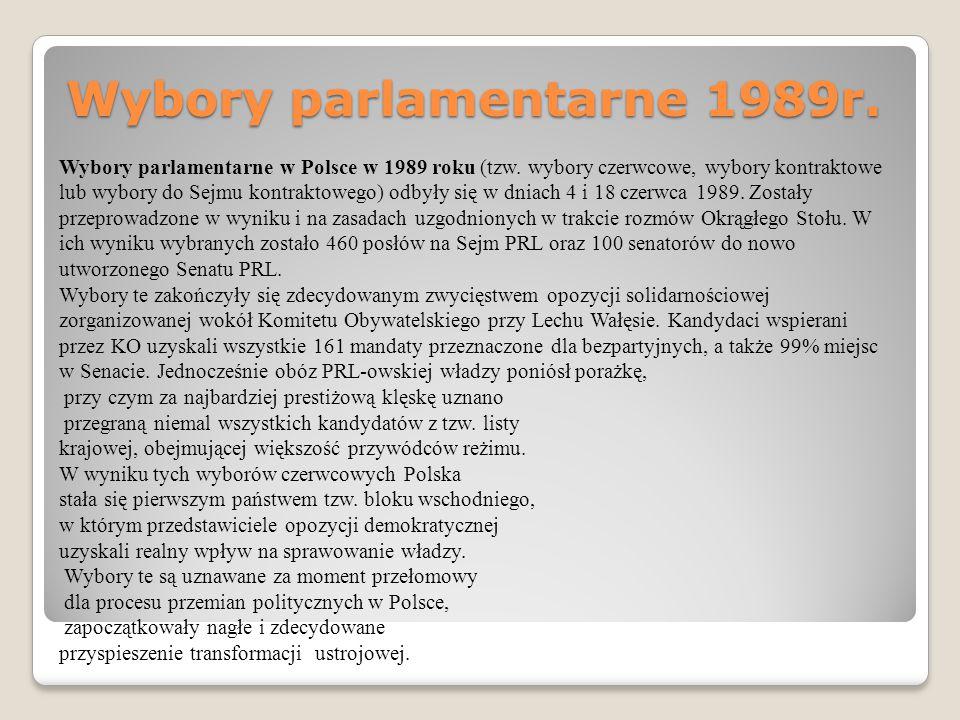 Wybory parlamentarne 1989r.