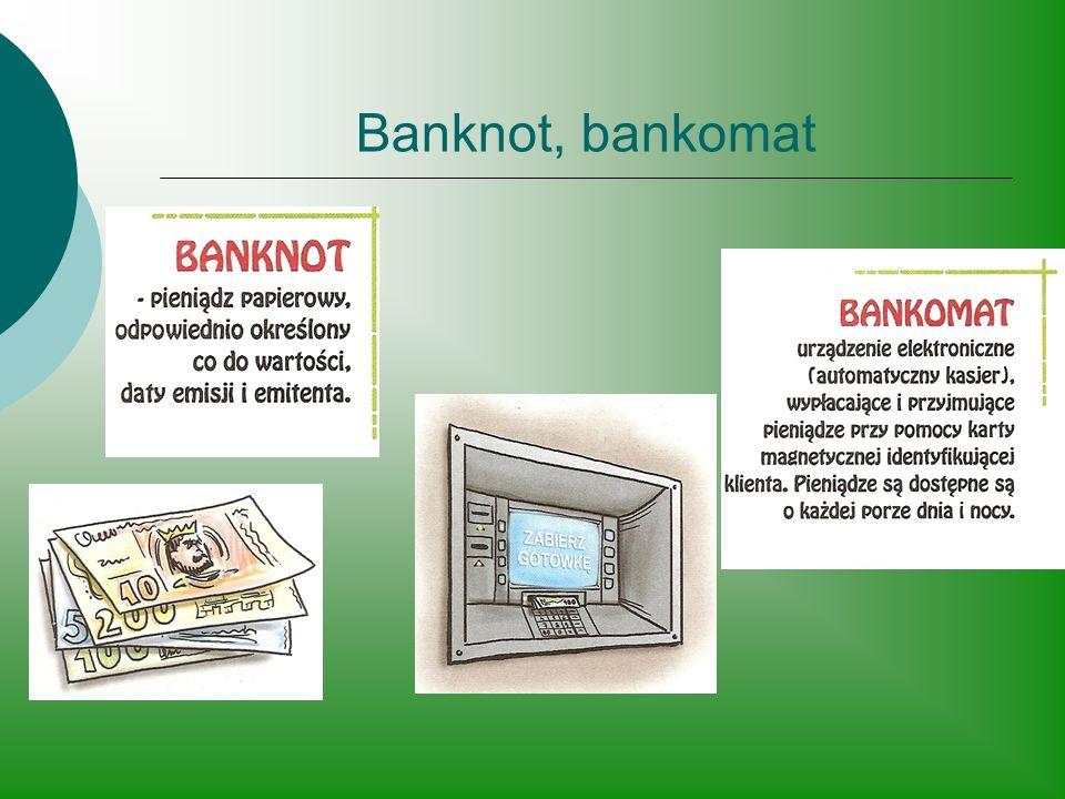 Banknot, bankomat