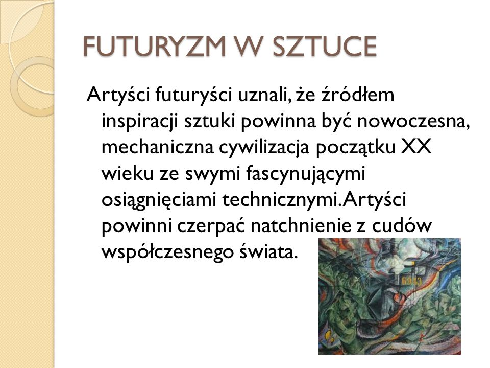 FUTURYZM W SZTUCE