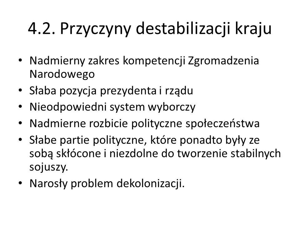 4.2. Przyczyny destabilizacji kraju
