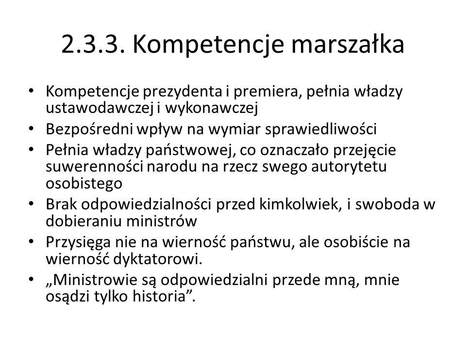 2.3.3. Kompetencje marszałka