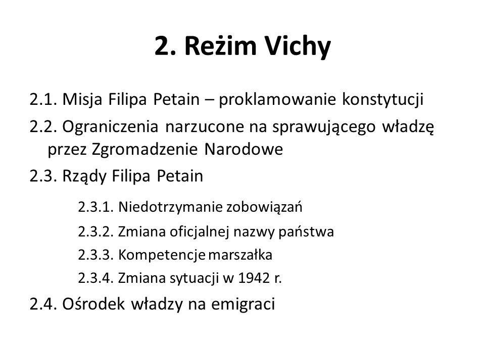 2. Reżim Vichy 2.3.1. Niedotrzymanie zobowiązań