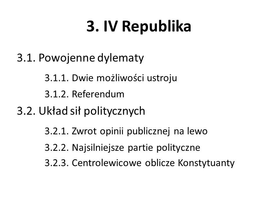 3. IV Republika 3.1.1. Dwie możliwości ustroju