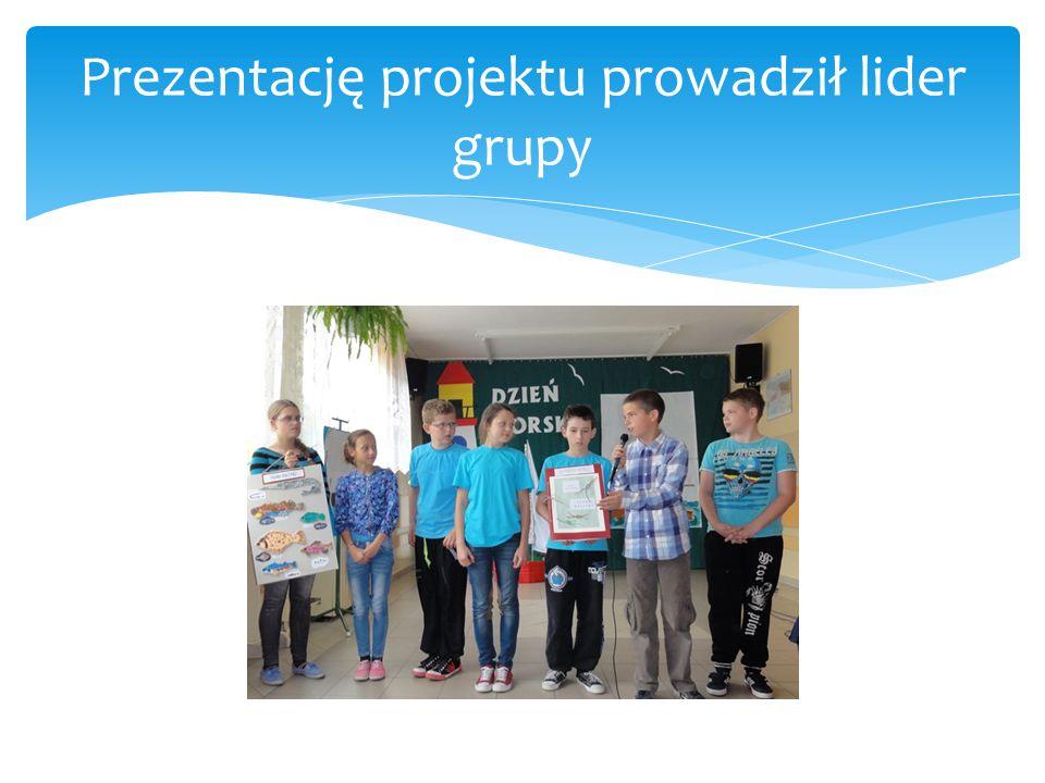 Prezentację projektu prowadził lider grupy
