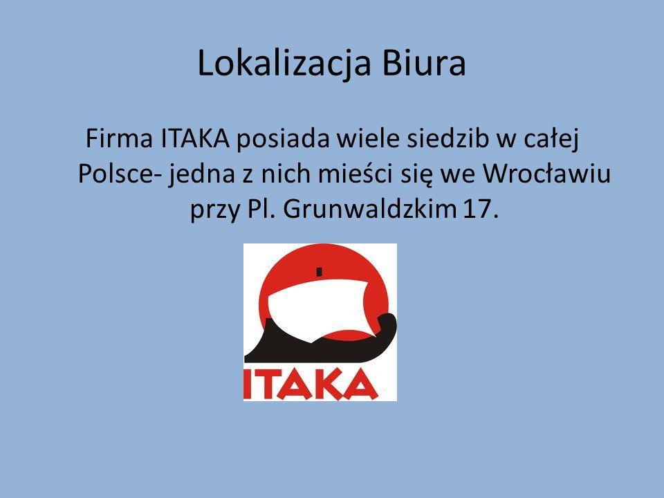Lokalizacja Biura Firma ITAKA posiada wiele siedzib w całej Polsce- jedna z nich mieści się we Wrocławiu przy Pl.