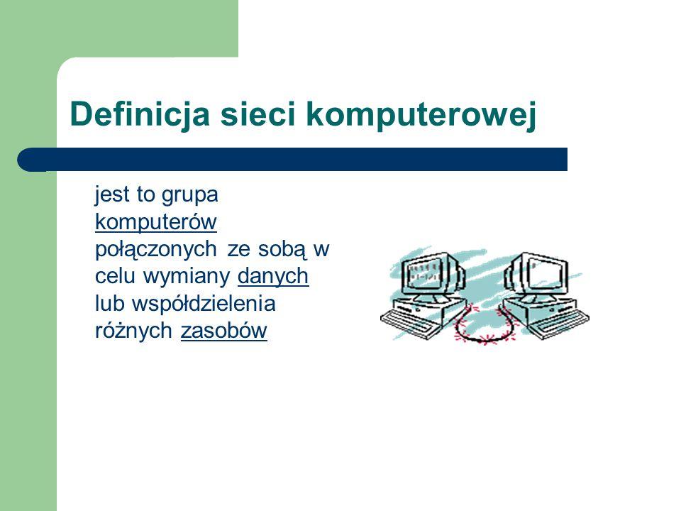 Definicja sieci komputerowej