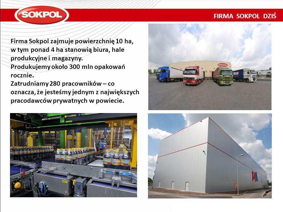 FIRMA SOKPOL DZIŚ Firma Sokpol zajmuje powierzchnię 10 ha, w tym ponad 4 ha stanowią biura, hale produkcyjne i magazyny.