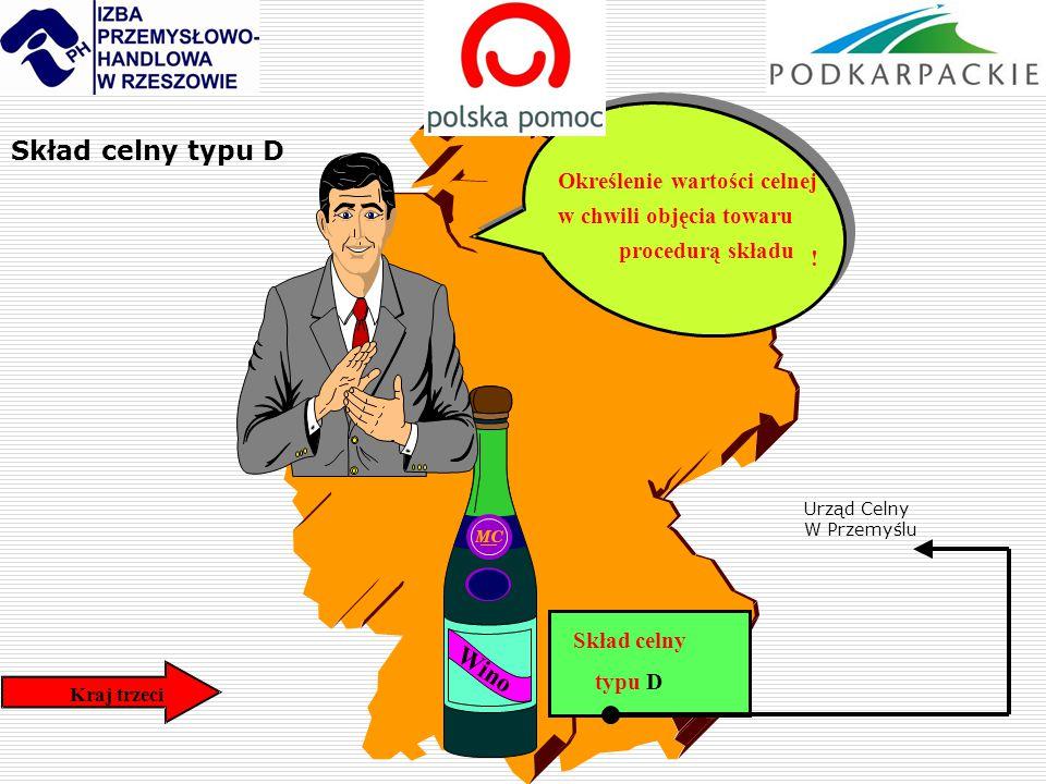 Skład celny typu D Wino Określenie wartości celnej