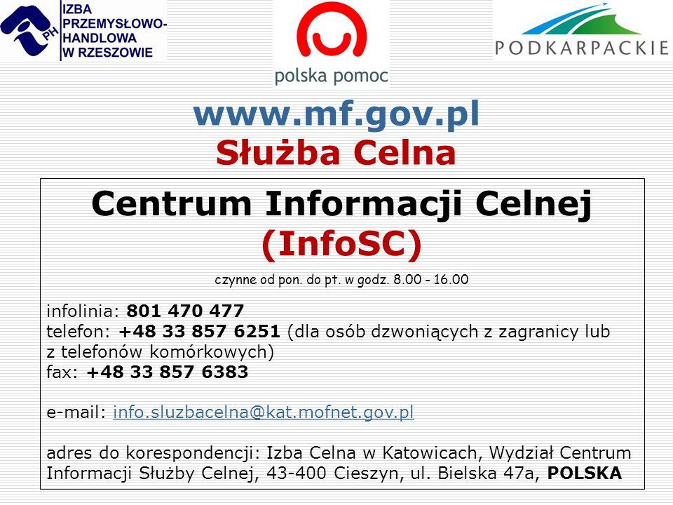 Centrum Informacji Celnej (InfoSC)