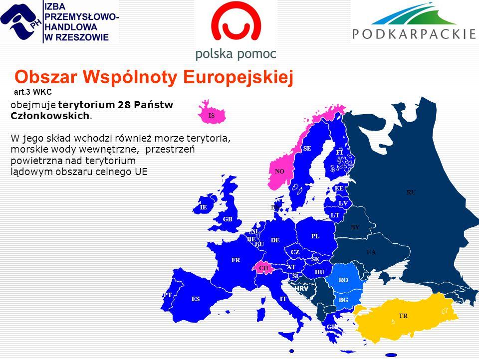 Obszar Wspólnoty Europejskiej art.3 WKC