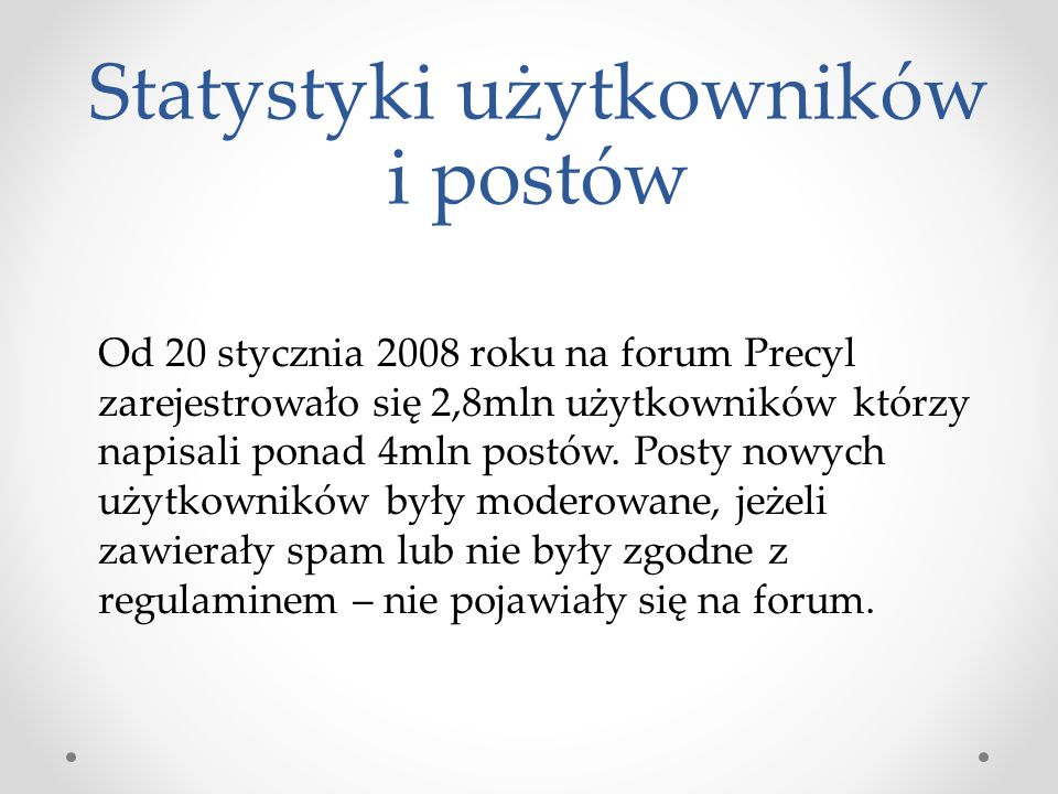 Statystyki użytkowników i postów
