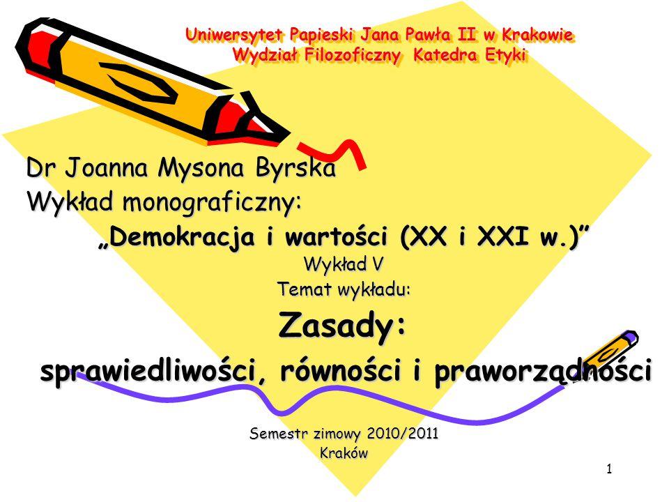 """""""Demokracja i wartości (XX i XXI w.)"""