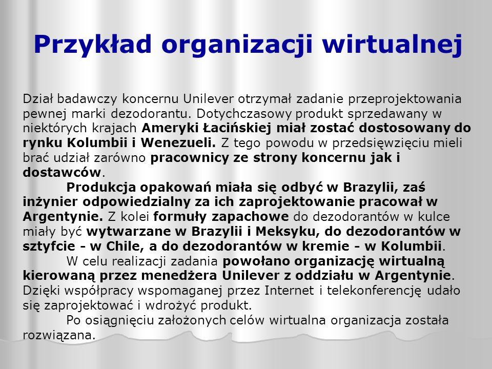 Przykład organizacji wirtualnej