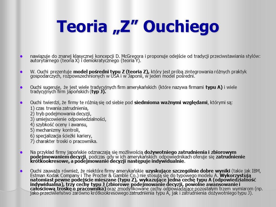 """Teoria """"Z Ouchiego"""
