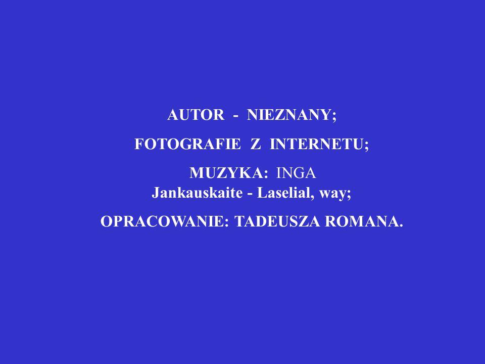 FOTOGRAFIE Z INTERNETU; OPRACOWANIE: TADEUSZA ROMANA.