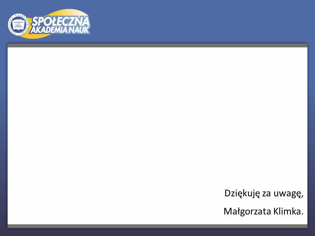 Dziękuję za uwagę, Małgorzata Klimka. 19