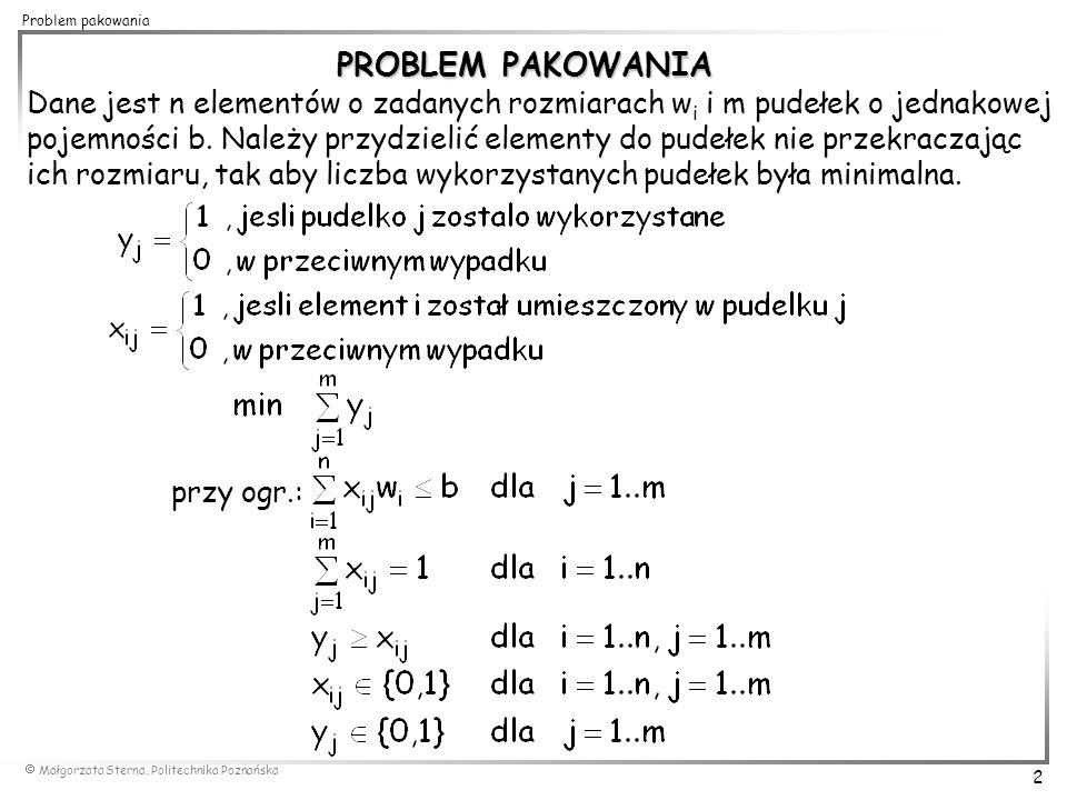 PROBLEM PAKOWANIA