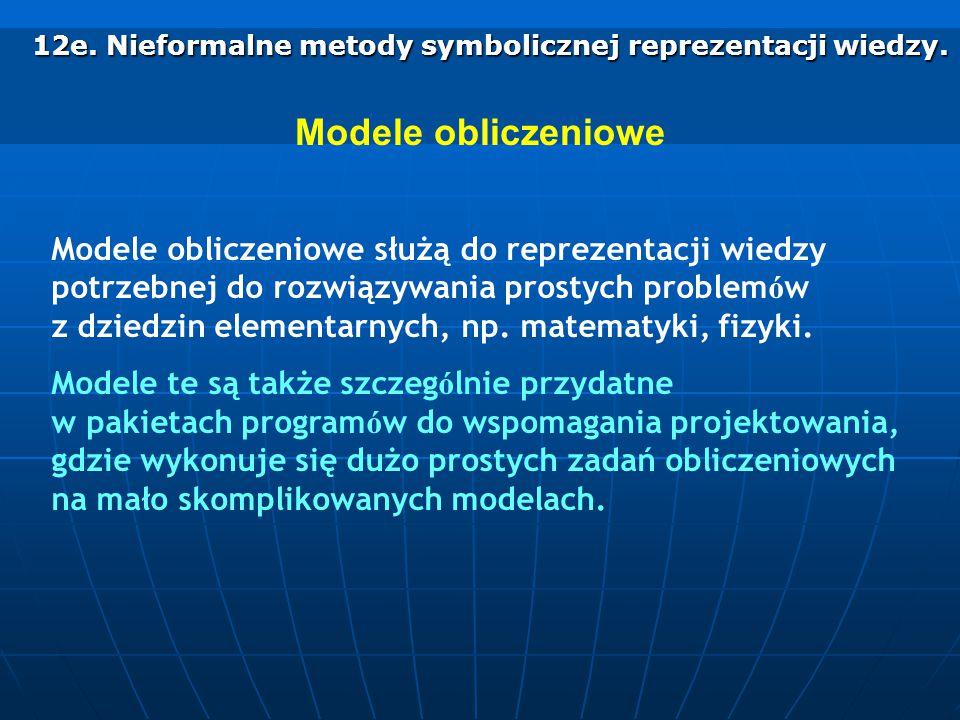 12e. Nieformalne metody symbolicznej reprezentacji wiedzy