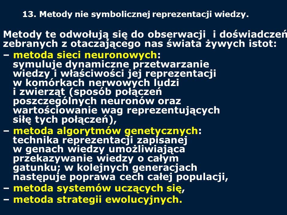 – metoda systemów uczących się, – metoda strategii ewolucyjnych.