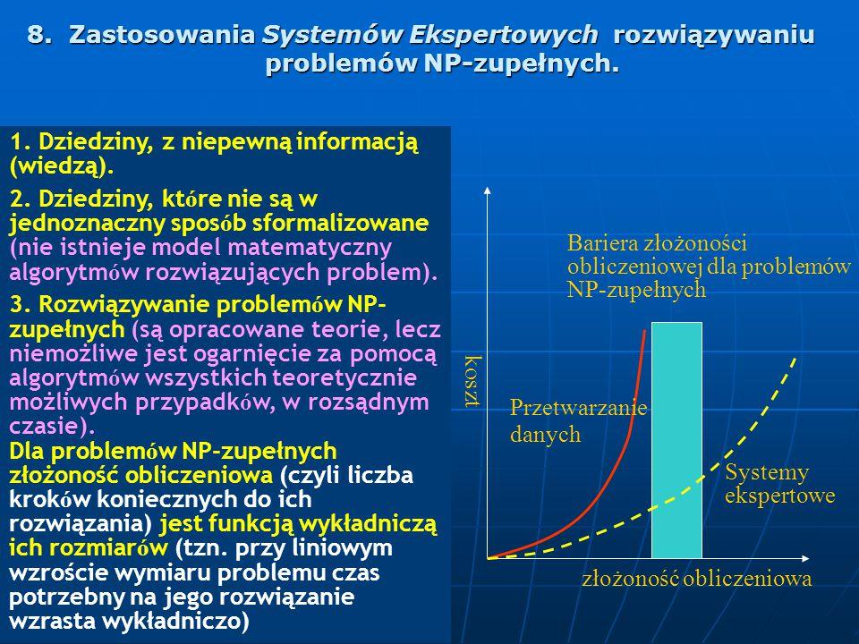 8. Zastosowania Systemów Ekspertowych rozwiązywaniu problemów NP-zupełnych.