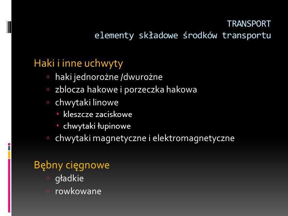 TRANSPORT elementy składowe środków transportu