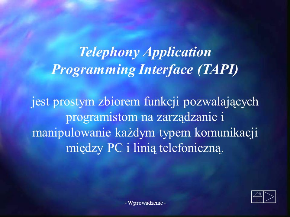 Telephony Application Programming Interface (TAPI)