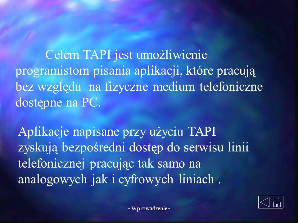 Aplikacje napisane przy użyciu TAPI