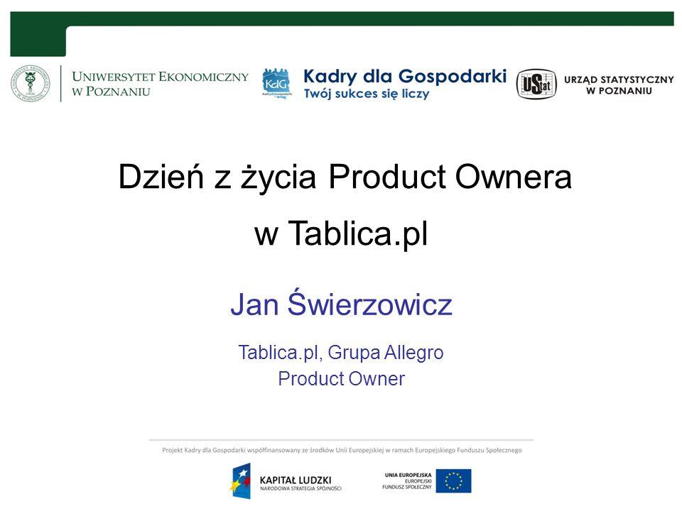 Dzień z życia Product Ownera w Tablica.pl